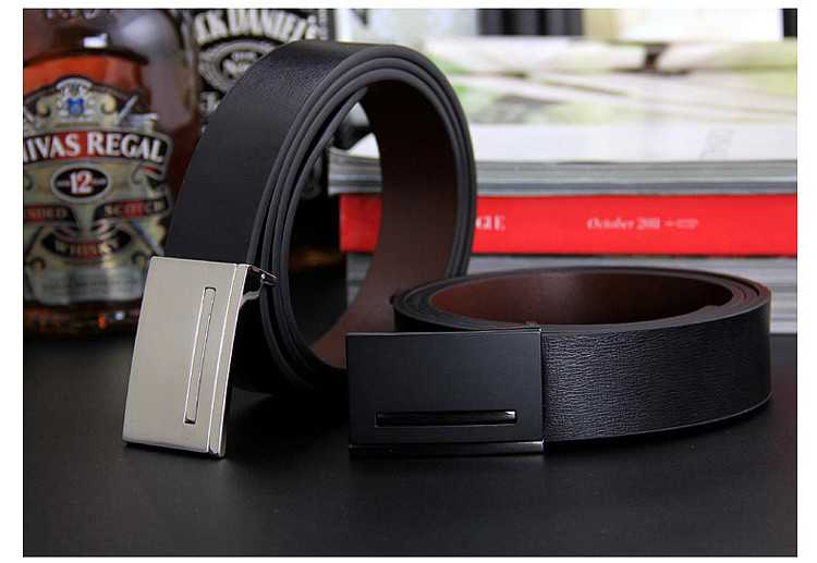 New men's genuine leather belt men cowskin belt formal suit trousers belt double metal buckle strap gift for men belts