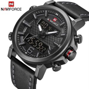 Men Leather Waterproof Quartz Sport Watches