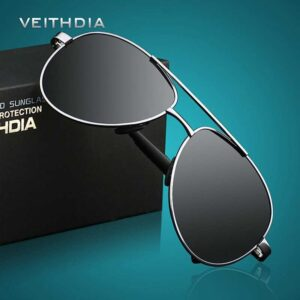 VEITHDIA Men's Brand Designer Pilot Polarized Sunglasses