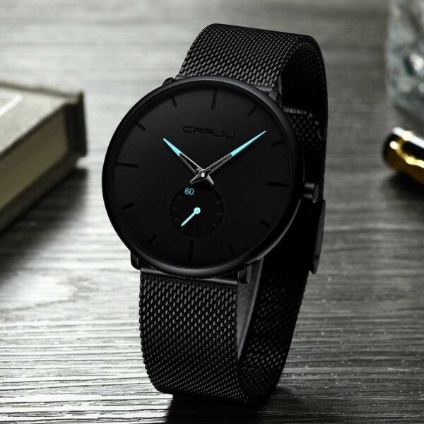 Casual Slim Mesh Steel Waterproof Sport Watch
